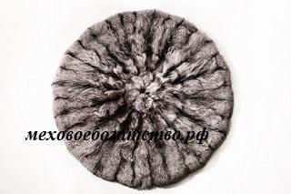 ковер лисица серебристо-черной